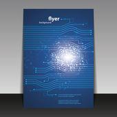 Folleto o cubierta con diseño de conexiones digitales — Vector de stock