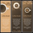 Set of 3 Coffee Shop Banner or Menu Template Designs — Stock Vector