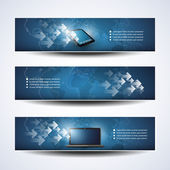 Banner oder Header Designs - Cloud-Computing, Netzwerke — Stockvektor