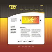 抽象的なビジネス web サイトのデザインのテンプレート ベクトル — ストックベクタ
