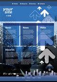 Szablon strony internetowej — Wektor stockowy