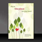 爱上了大自然-传单或封面设计 — 图库矢量图片