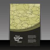 летчик или дизайн покрытия — Cтоковый вектор