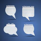Not kağıdı konuşma balonları — Stok Vektör