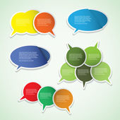 Colorful Labels, Tags, Speech Bubbles — Stock Vector
