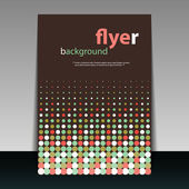 Flyer or Cover Design with Colorful Dotted Pattern — Stock Vector
