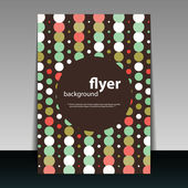 Flyer or Cover Design with Colorful Dotted Pattern — Vecteur