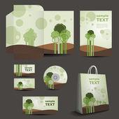 Ileti örneği, kurumsal i̇maj tasarımı - doğa stil şablon — Stok Vektör