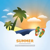 Summertime Holiday Background — Stock Vector