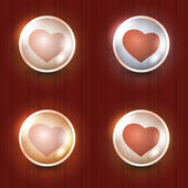 Red Hearts — Stock Vector