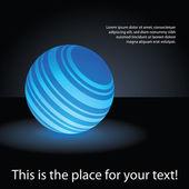 Abstract Blue Globe Design — Stock Vector