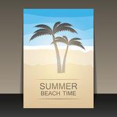 Tarjeta de fiesta de verano abstracto, cubierta o folleto plantilla — Vector de stock