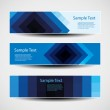Banner or Header Designs with Abstract Blue Pattern — Stock Vector