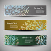 Banner or Header Designs with Colorful Networks Concept — Stockvector