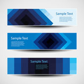 Banner or Header Designs with Abstract Blue Pattern — Stockvector