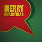 Merry Christmas Speech Bubble — Vector de stock