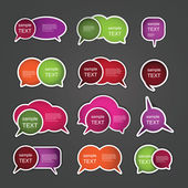 Colorful Labels, Tags — Vector de stock