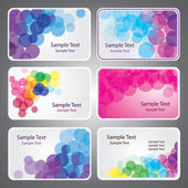 Colorful Business Card Vectors — Stock Vector