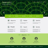 Website Template with Rings Header Design — Stock Vector