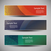 Banner or Header Designs with Abstract Colorful Grungy Pattern — Stockvector