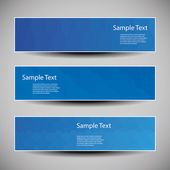 Banner or Cover Designs with Blue Abstract Pattern — Vetorial Stock