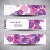 Banner or Header Designs with Abstract Bubbly Pattern — Stock Vector