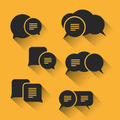 Speech Bubbles Set with Shadows for Web, Mobile Apps - Flat Design — Stockvector