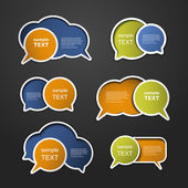 Colorful Speech Bubbles — Vettoriale Stock