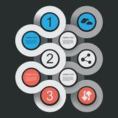 Minimala infographic konstruktion — Stockvektor