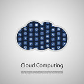 Cloud Computing Concept Illustration — Stock vektor