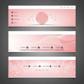 Web Design Elements - Header Designs with Abstract Pattern — Stock Vector