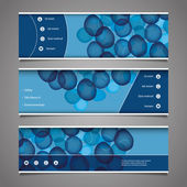 Web Design Elements - Header Designs with Bubbles — Stock Vector