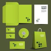 шаблон бланка, корпоративный имидж дизайн с мозаикой — Cтоковый вектор