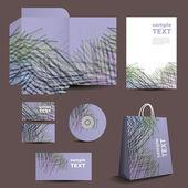 Plantilla de papelería, diseño de imagen corporativa con líneas de colores — Vector de stock