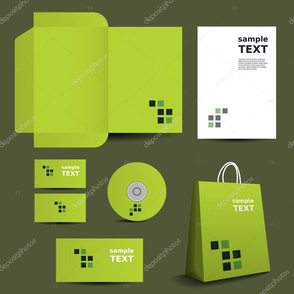 Download - Stationery Template, Corporate Image Design with Mosaics ...