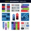 Colorful Set of Infographic Design Templates - Banners, Charts, Arrows — Stock Vector #49594147