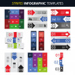 Colorful Set of Infographic Design Templates - Banners, Charts, Arrows — Stock Vector #49594161