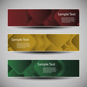 Banner or Header Designs with Abstract Squares Pattern — Stockvector