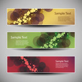 Banner or Header Designs with Abstract Colorful Pattern - Stars and Bubbles — Vecteur
