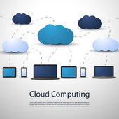 Cloud Computing Concept — Stockvektor