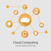 Cloud Computing Concept — Vetorial Stock