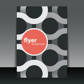 Flyer or Cover Design with Ribbons Pattern — Stockvektor