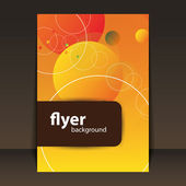Flyer or Cover Design - Circles Pattern — Vector de stock