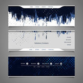 Web Design Elements - Abstract Header Designs with Grungy Pattern — Stock Vector