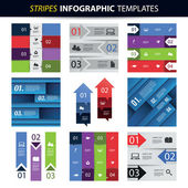 Colorful Set of Infographic Design Templates - Banners, Charts, Arrows — Cтоковый вектор