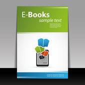 Flyer oder cover-design - e-bücher — Stockvektor