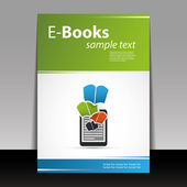 Flyer or Cover Design - E-Books — 图库矢量图片