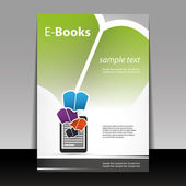 Flyer or Cover Design - E-Books — Stock Vector