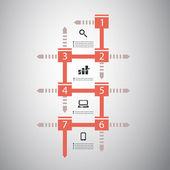图表概念-流程图设计-时间线 — 图库矢量图片