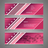 Web Design Elements - Pink Header Designs — Stock Vector